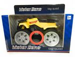 Motor Zone  Freewheeling -  BIG QUAD BIKE With Sounds - Yellow - NEW